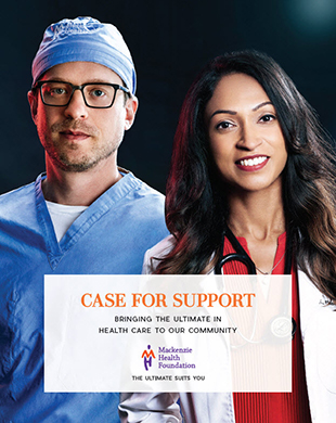 A Case for Support image showing two of Mackenzie Health's staff.